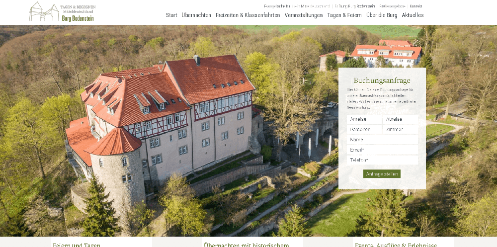Burg Bodenstein Website