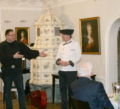 Herzliche Begrüßung der Gäste